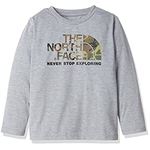 (ザ・ノース・フェイス)THE NORTH FACE ロングスリーブロゴグラフィックティー NTJ81739 Z ミックスグレー 120