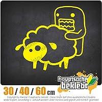 Domo sheep - 3つのサイズで利用できます 15色 - ネオン+クロム! ステッカービニールオートバイ