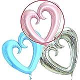 特大 アルミ バルーン ハート 1.1m 結婚式 二次会 誕生日 選べる3色 【 ピンク 】