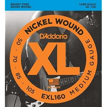 D'Addario ダダリオ ベース弦 ニッケル Long Scale .050-.105 EXL160 【国内正規品】