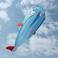 3d HugeソフトParafoil GiantドルフィンブルーカイトアウトドアスポーツEasy to Fly Frameless Flying Toys designed withソフトウェアには、美しいとクラシック
