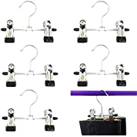 Mmei 6 pcs Adjustable Heavy Duty Laundry Hook Hanging Clothes Stainless Hanger Home Travel Portable Boot Hanger Boot Holder Boot Clips Boot Organiser