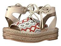 (サムエデルマン)Sam Edelman レディースファッションサンダル・靴 Neera Ivory Multi Leather w/ Beading 6 23cm M [並行輸入品]