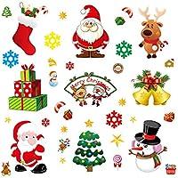 YHOMBES ウォールステッカー クリスマス ウォールステッカー サンタクロース トナカイ クリスマスツリー シール 壁紙 クリスマス パーティー 装飾りプレゼント DIY サンタ 部屋 店舗装飾