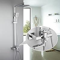 1セット浴室レインフォールシャワー蛇口セットハンドスプリッター付きシングルハンドルミキサータップMAG.ALによって壁に取り付けられたバスシャワーセット