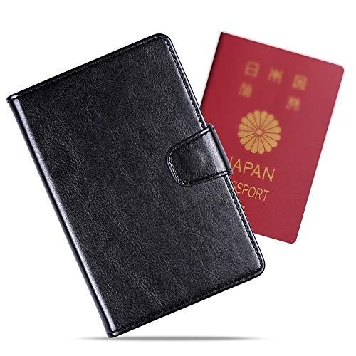 パスポートケース スキミング防止 パスポートバッグ カードケース 収納 ポーチ Arae 出張 ビジネス 海外旅行 軽量 男女兼用 トラベルポーチ (ブラック)