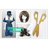 コスプレ衣装+ウィッグ+靴+庭師の鋏 ローゼンメイデン Rozen Maiden 蒼星石 cosplay 道具 はさみ