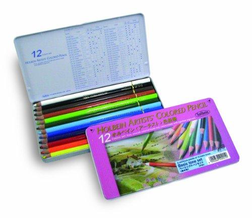 ホルベイン アーチスト色鉛筆 12色セット ベーシックトーン