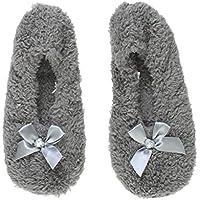 Ajvani Women's Ladies Fleece Winter Slippers Socks Size