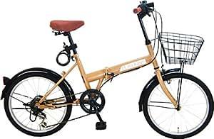 ACE BUDDY 折りたたみ自転車 (イエロー)●206-4カゴ付