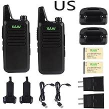 Auveach 2 Pcs Two Way Walkie Talkie Handy Kd-C1 Portable Long Range Handheld Radio Transceiver