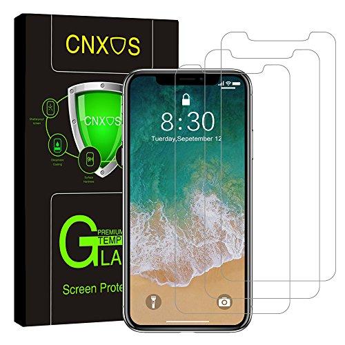 CNXUS 3枚入りiPhone X 保護フィルム 自己吸着 超薄 9H硬度 飛散防止 指紋防止 気泡防止 iPhoneX ガラスフィルム 液晶保護フィルム 強化ガラス