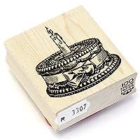100 Proof Press ラバースタンプ リボンケーキ 1 Candle #3307