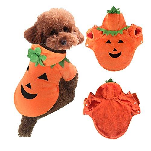 Leksaker 犬服 かぼちゃ コスプレ 秋冬用 暖かい 防寒 ペット用品 5サイズ Sサイズ