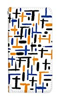 スマホケース 手帳型 arrows be f-05j ケース かわいい おしゃれ デザイン 柄 0147-C. オレンジブルー f05j ケース 手帳 [ARROWS BE F-05J] アローズ ビー ベルトなし スマホゴ