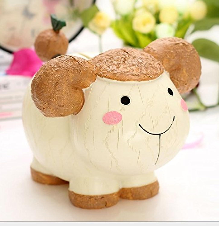 マネー バンク 創造的な子供たちのギフトレジンゾディアックピギーバンクスーパーラブリー動物ピギーバンク(羊)