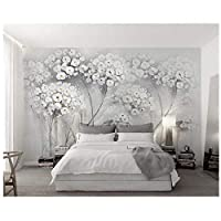 caomei 壁紙エレガントな審美的な絵画の花北欧のテレビの背景の壁のリビングルームの寝室の壁画3Dの壁紙@ 3