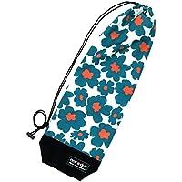 nokduk バドミントン専用ラケットケース  ファンシーシリーズ 『フラワー 青』 スマートでコンパクト(2本可)。丁寧な縫製。
