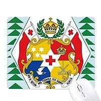 トンガオセアニア国章 オフィスグリーン松のゴムマウスパッド