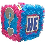 He or She Gender Reveal Pull Strings Block Pinata