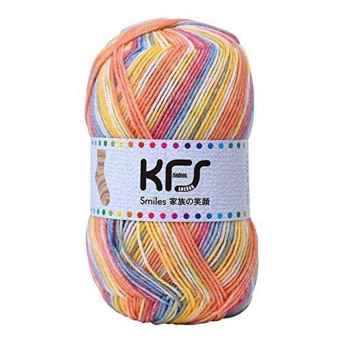 Opal毛糸 家族の笑顔 KFS116 赤ちゃんの笑顔 オレンジ・イエロー系マルチカラー