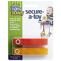 Baby Buddy ベビー バディ Secure-A-Toy 2ct おもちゃストラップ2色各1本組 【アメリカ製】 Orange&Mango オレンジ&マンゴー