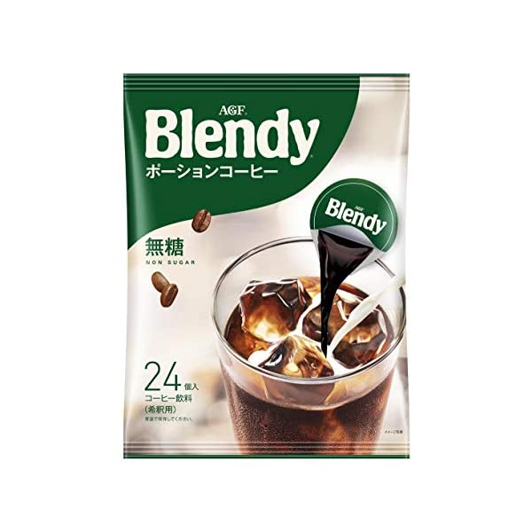 AGF ブレンディ ポーションコーヒー 無糖 24個の商品画像