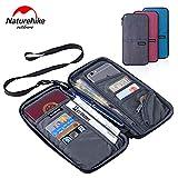 Naturehike パスポートケース カードバッグ 財布 小銭入れ 多機能 パスポートバッグ 22.5x12cm 灰色青色紫色 男女通用 大容量 航空券とチケットなどを収納するバッグ