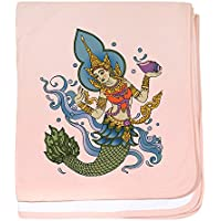 CafePress – Hinduマーメイド – スーパーソフトベビー毛布、新生児おくるみ ピンク 04863744626832E
