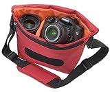 エツミ カメラバッグ ベリーM 5.9L レッド E-3334