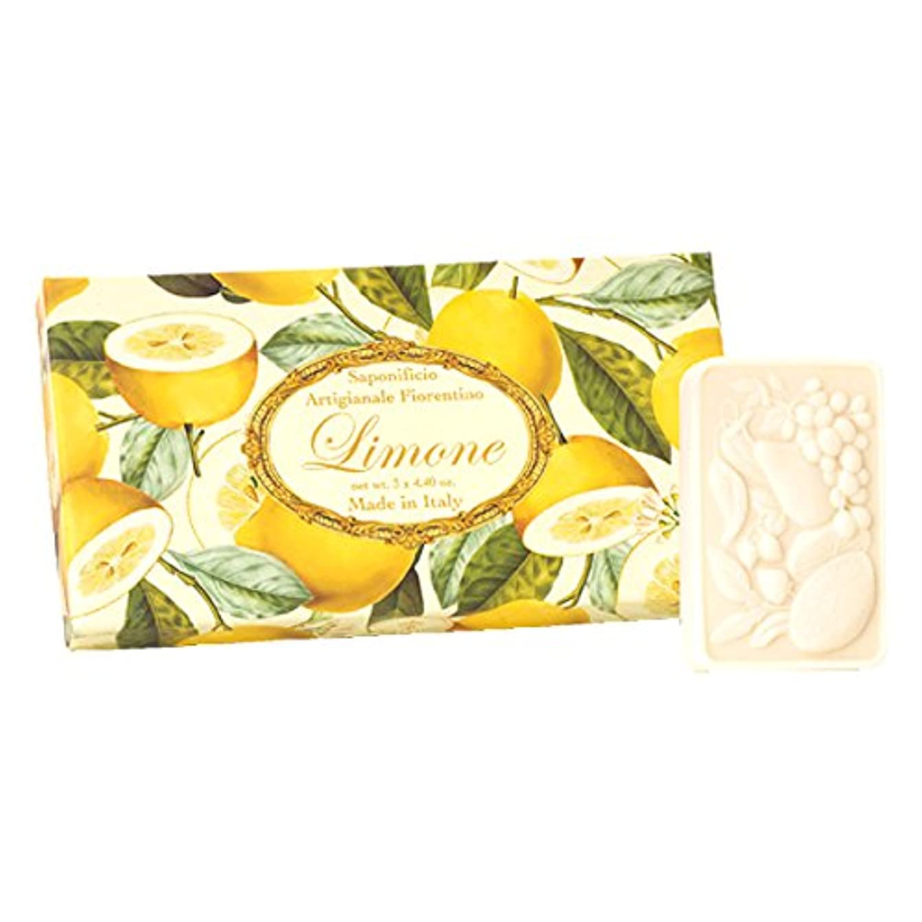 もう一度ぴったり許容できるフィレンツェの 長い歴史から生まれたこだわり石鹸 レモン【刻印125g×3個セット】