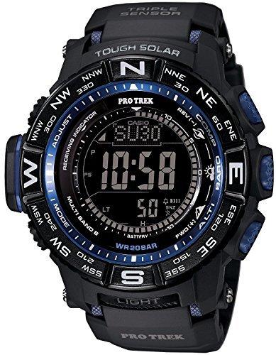 [カシオ]CASIO 腕時計 PROTREK プロトレック マルチフィールドライン 方位計 PRW-3500Y-1 ブラック×ブルー ...