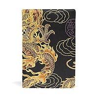 ブックカバー 文庫 a5 皮革 レザー 中国の竜 文庫本カバー ファイル 資料 収納入れ オフィス用品 読書 雑貨 プレゼント