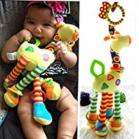 Massta 2017新しいぬいぐるみの幼児の赤ちゃんの開発柔らかいキリンの動物のハンドベルラトルのハンドルのおもちゃ熱い販売のTeetherの赤ちゃんのおもちゃ