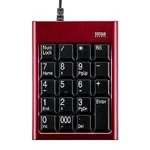 サンワサプライ NT-14UR USBテンキー レッド