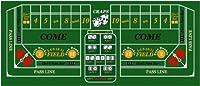 カジノCraps長方形シルクスクリーン印刷グリーンフェルトテーブルカバー