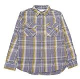 (アビレックス)AVIREX ネルシャツ シャツ 長袖 チェック ワーク フランネル ライトウエイト 60年代 60's 定番 ベーシック 6125002 S 14グレー