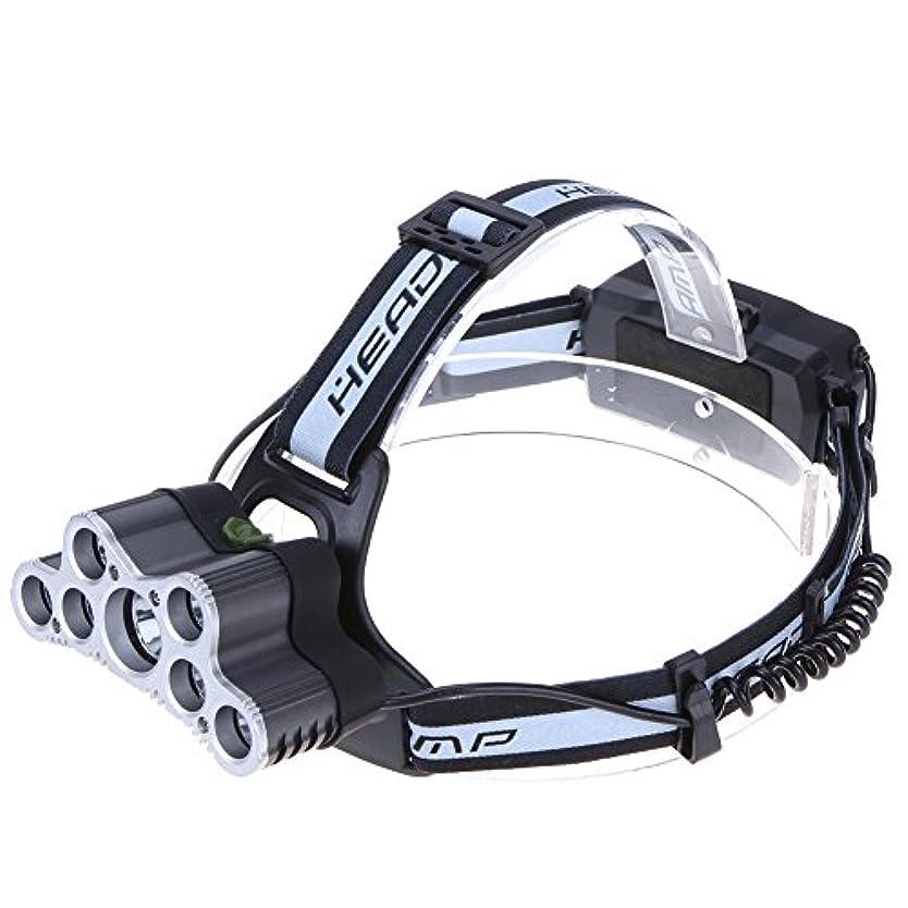数字疎外するアジャヘッドライト LED ヘッドライト 防水軽量 電池充電式 角度調節可能 夜釣り アウトドア作業に Broadroot (#03)