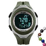 TTLIFE レディース 腕時計 メンズ 温度計 腕時計 デジタル表示 多機能 スポーツウォッチ クォーツ ミリタリー腕時計 目覚まし時計 カレンダー オリーブドラブ