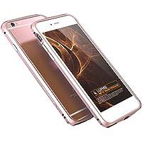 Apple 6金属フレーム iPhone6/6S iPhone 6plus/6S plusに適用 4.7/5.5インチ六角形のシェル保護ケース 超スリムメタルバンパー (4.7inch, ローズゴルード)