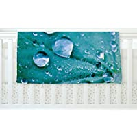 KESS InHouse Iris Lehnhardt Water Droplets Aqua Teal Fleece Baby Blanket 40 x 30 [並行輸入品]