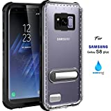 Samsung Galaxy S8 Plus Waterproof Case, IP68 Case by ASAKUKI, Certified Case, Full Body Protective, Shockproof, Scratch-Proof, Dustproof Case with Sensitive Screen Protector - Transparent - S8+