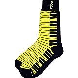 ネオンカラー 蛍光色 鍵盤 キーボード 靴下 SOCKS KEYBOARD NEON LADIES (黄色)