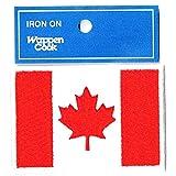 刺繍ワッペン国旗エンブレム カナダ国旗 NO-302 (M 約5.5cmx8cm)