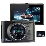 Podofo CarカメラフルHD 1080p 170¡ ã Wide Angle Car DVRダッシュカム亜鉛合金メタルボディWDR車ビデオレコーダー dash cam with 32G card PD-K0066BKG3201