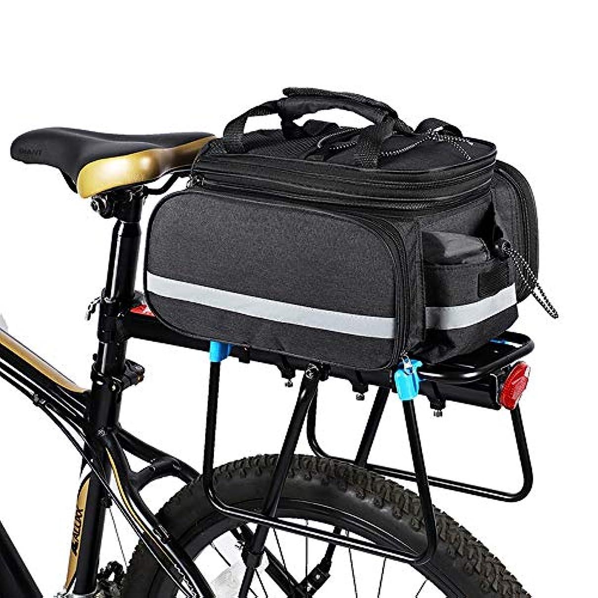 アルコール記念碑的ななだめるバイクの後部座席トランク袋、雨カバーが付いている防水自転車袋の自転車のサドルバッグの大きい容量