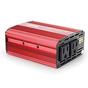 BeiLan インバーター カーインバーター 300W 車載充電器 シガーソケット ACコンセント DC12VをAC100V-110Vに変換 2.4A出力USBポート iPhoneやAndroidスマホなどのUSB充電 CPI-M300W