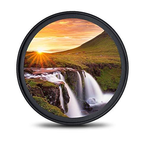 58mm レンズフィルター MC UV フィルター-ウルトラスリム16層多層加工 薄枠 紫外線保護 99%透過率 Canon Nikon Sony対応