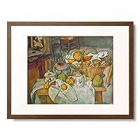 ポール・セザンヌ Paul Cézanne 「Still life with a basket of fruit. 1888/90」 額装アート作品