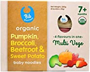 Bib Gourmet Organic Pumpkin, Broccoli, Beetroot & Sweet Potato Baby Noodles, 2
